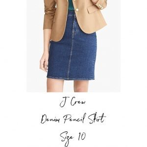 J Crew Denim Pencil Skirt